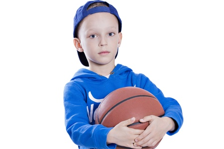 said child with basketball photo