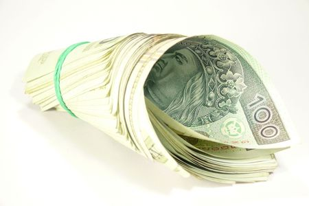 hundreds:   Concept of hundreds zloty