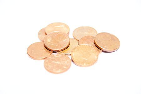 cents: One euro cents Stock Photo