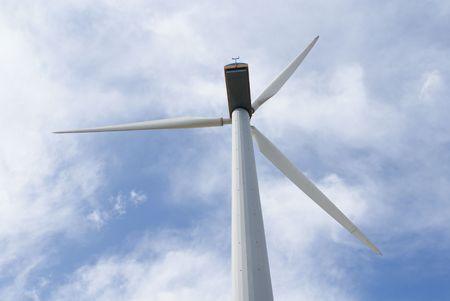 Energy windmill under sky photo