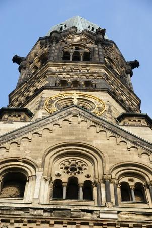copula: Gold clock on tower in Berlin