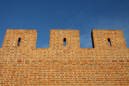 fortified wall: Three pieces of fortified wall Stock Photo