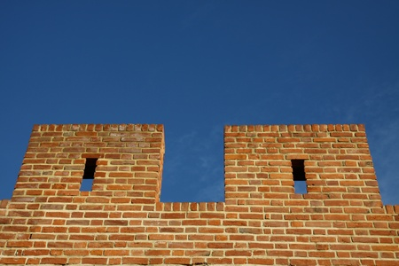fortified: Two pieces of fortified wall Stock Photo