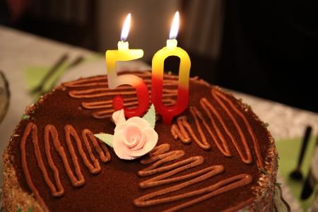 number 50: Torta de cumplea�os con el n�mero 50