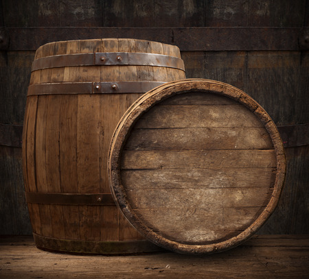 beer barrel: wooden barrel