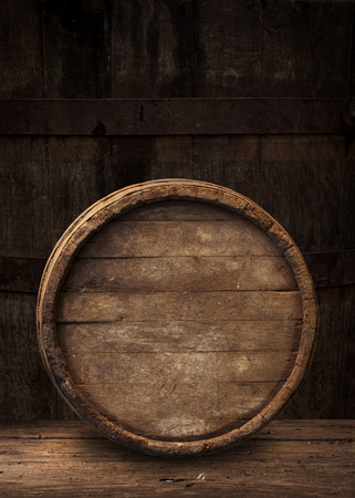 whiskey: wooden barrel