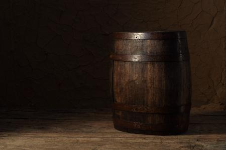 houten vat  Stockfoto