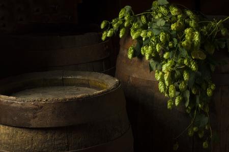 Stilleven met een vaatje bier