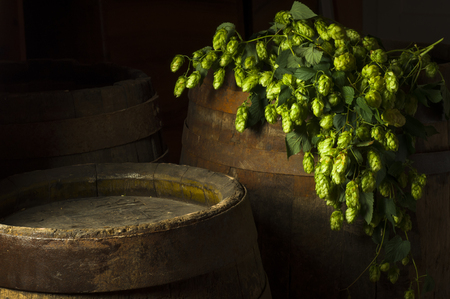 unbottled: Still Life with a keg of beer Stock Photo