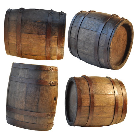 background of barrel, barrel, wine, cellar,  table Stock Photo