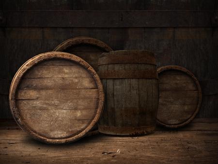 background of barrel, barrel, wine, cellar,  table 写真素材