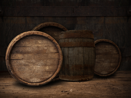 background of barrel, barrel, wine, cellar,  table 免版税图像