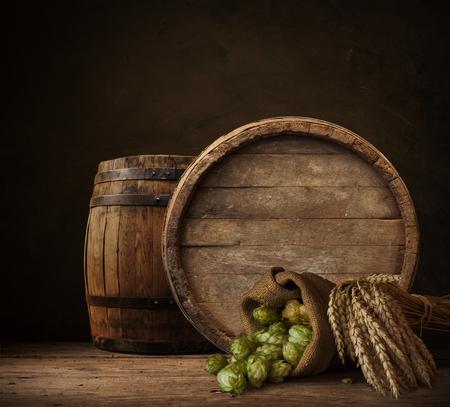 achtergrond van vat kelder, bier, achtergrond, drinken