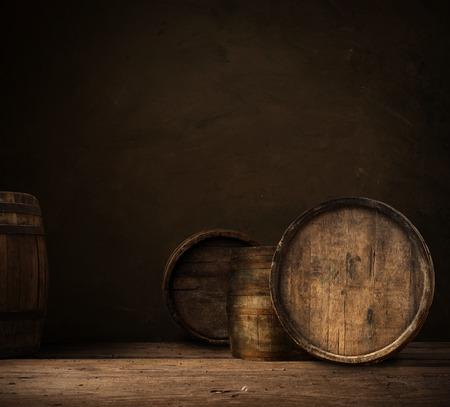 worn: background of barrel keg, worn, storage, vintage Stock Photo