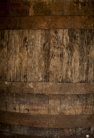 background of barrel keg, worn, storage, vintage Stock Photo