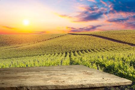 Chianti vineyard landscape in Tuscany, Italy, farm Stock Photo