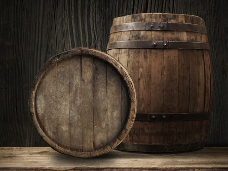 included: Wooden barrel for wine with steel ring. Clipping path included.
