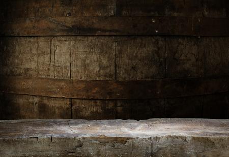 white wine: Wooden oak barrel isolated on white background