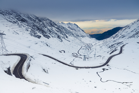 Transfagarasan road in Transylvania Romania Stock Photo