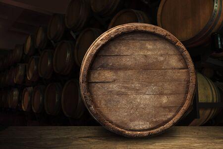 fond de baril et vieille table en bois usée
