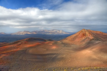 Timanfaya National Park, Lanzarote, Canary Islands Stock Photo