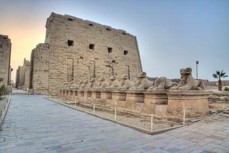 Sphinxs alley in Karnak temple, Luxor, Egypt photo
