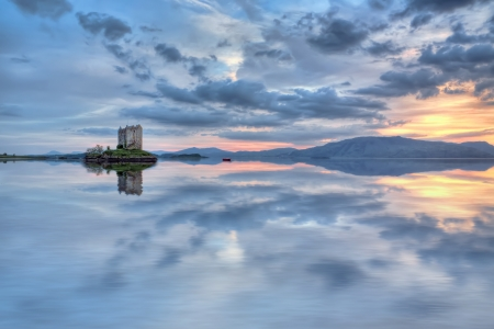 Stalker castillo en Escocia