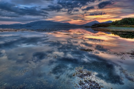 Sunset at Loch Linnhe, Scotland