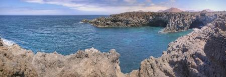los hervideros: Panoramic view on Los Hervideros, Lanzarote, Spain