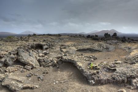 timanfaya: Campos de lava en el Parque Nacional de Timanfaya, Lanzarote