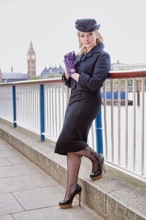 Beautiful fashion model in London photo
