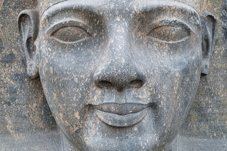 Sculptured face of Ramesses II in Luxor temple photo