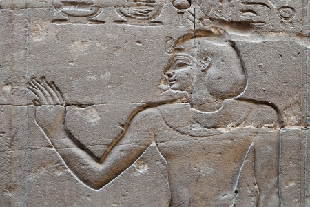 Relief in Luxor temple, Egypt photo