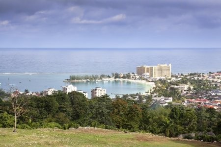 Ocho Rios, Jamaica, view from above