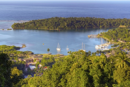 Jamaica, Port Antonio, aerial view Stock Photo
