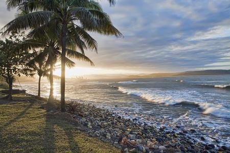 Evening on a beautiful Jamaican beach photo