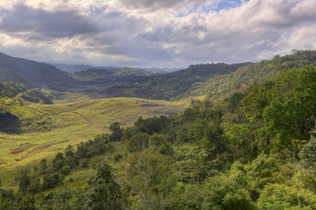 Beautiful landscape of interior Jamaica Stock Photo
