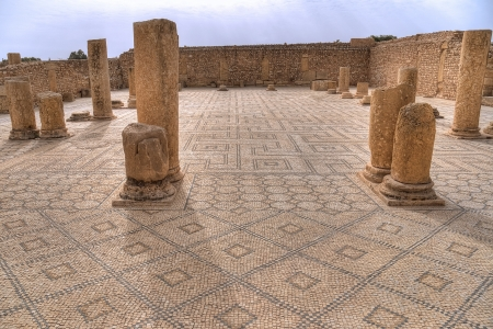 Forum in ancient Sbeitla, Tunisia photo