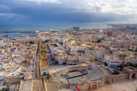 Aerial view on medina in Sousse, Tunisia, Africa
