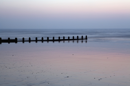 unspoilt: Early morning on a beach