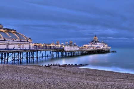 Eastbourne pier at night, UK