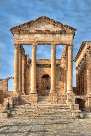 Famous ruins of ancient Sbeitla, Tunisia