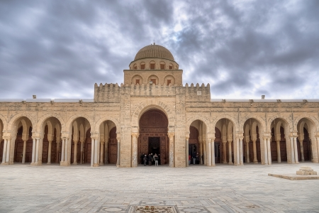 Prayer hall of the Great Mosque in Kairouan, Tunisia photo