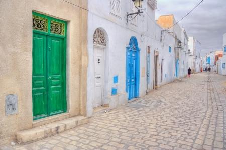 kairouan: Colourful doors of Kairouan medina, Tunisia
