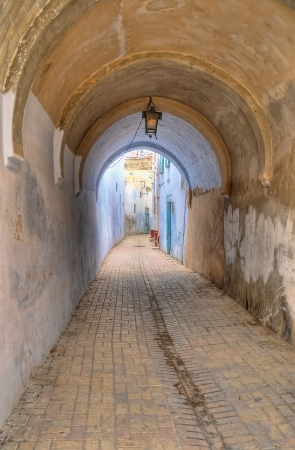 kairouan: Old narrow street in Kairouan, Tunisia Stock Photo