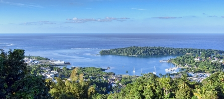 Port Antonio, Jamaica, aerial view Stock Photo
