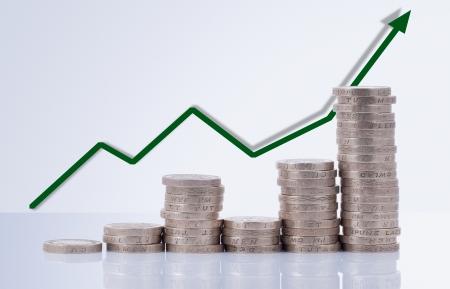 Money diagram indicating financial success