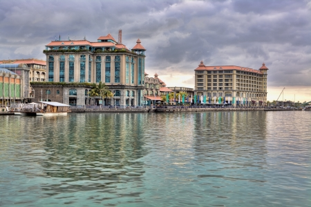 Waterfront in Port Louis, Mauritius Stock Photo