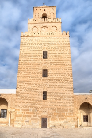 Three levels minaret of the Great Mosque of Kairouan photo