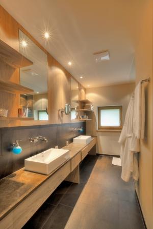 hotel bathroom: Beautiful big bathroom at Kaufmann hotel, Bavaria
